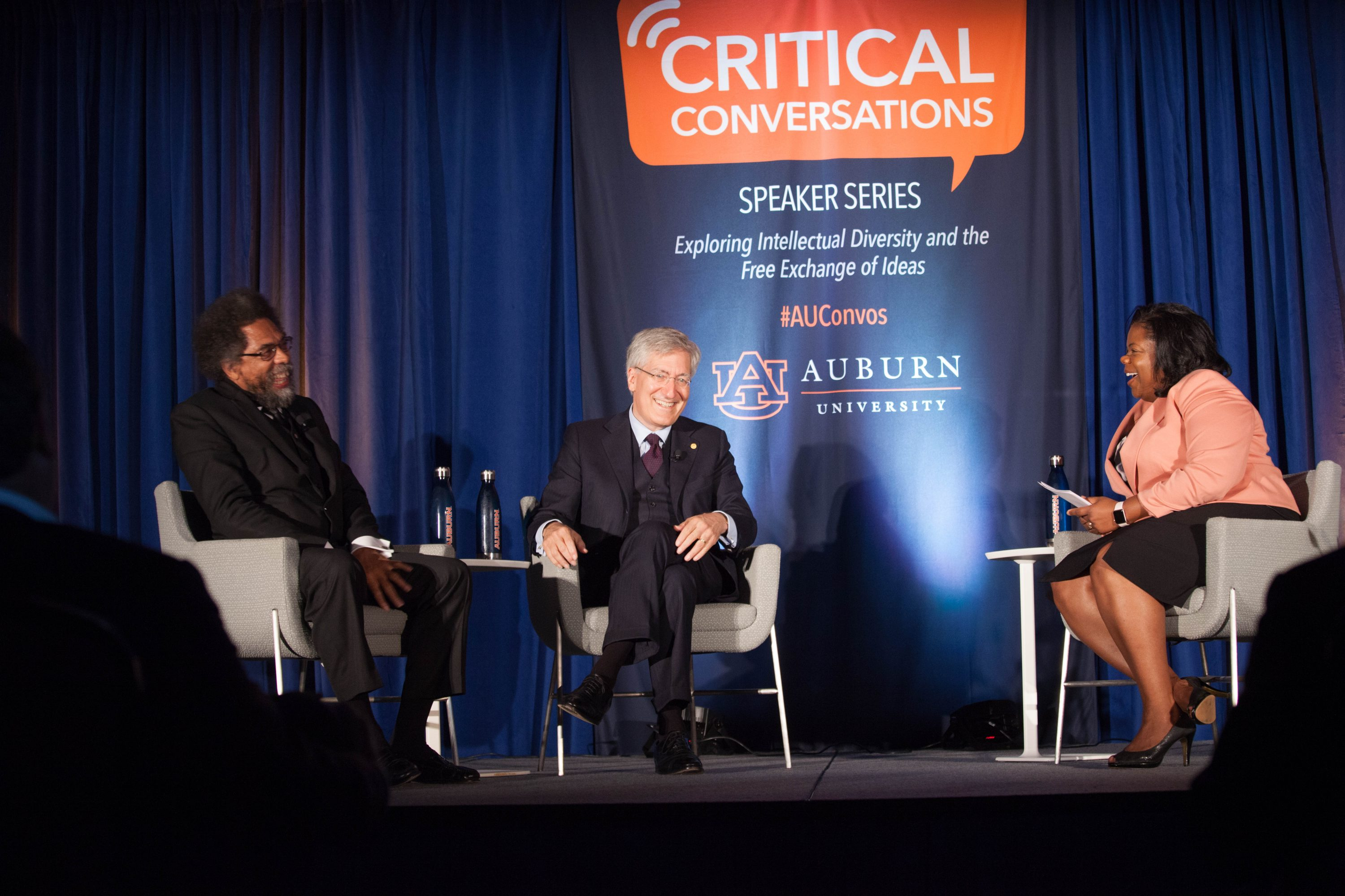Professors Cornel West and Robert George discuss the importance of intellectual diversity with Dr. Taffye Benson Clayton